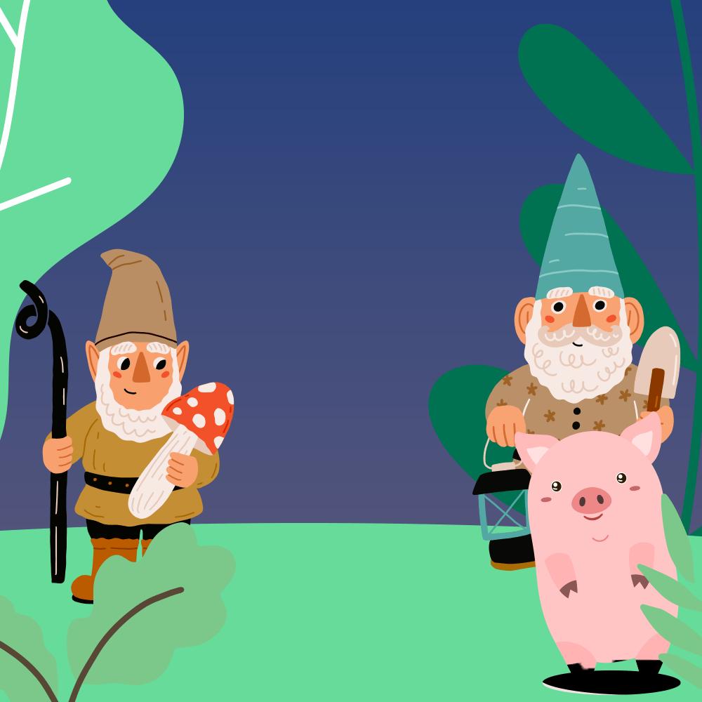 Serie El cerdito y los gnomos, disponible en Sybel