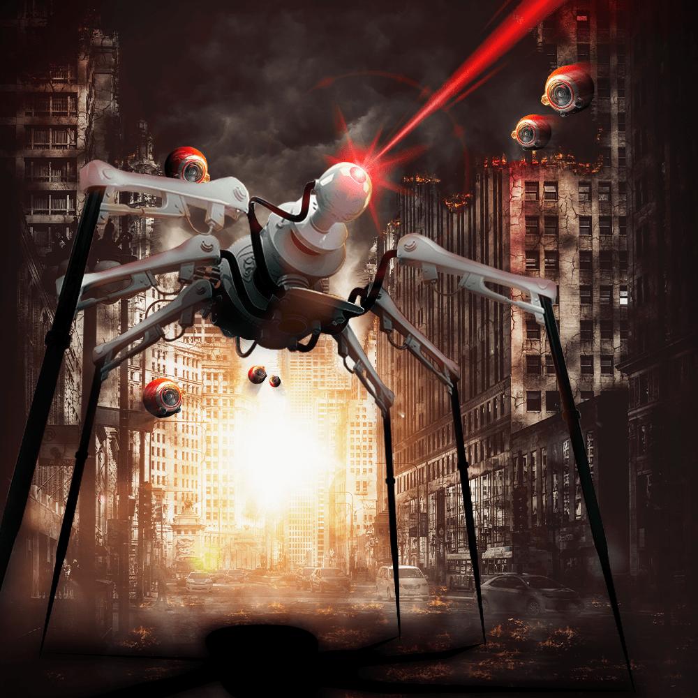 Cover de la serie La guerre des mondes disponible sur Sybel