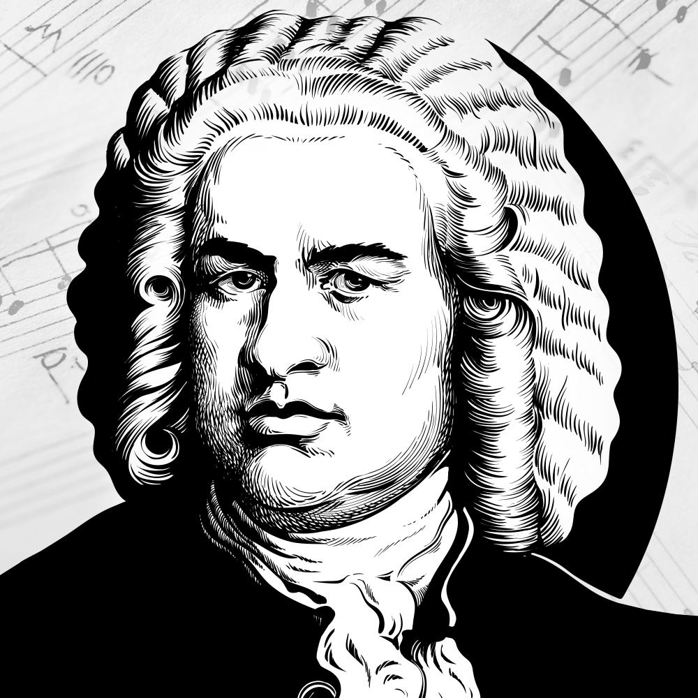 Cover de la serie Bach : sa vie, son oeuvre disponible sur Sybel