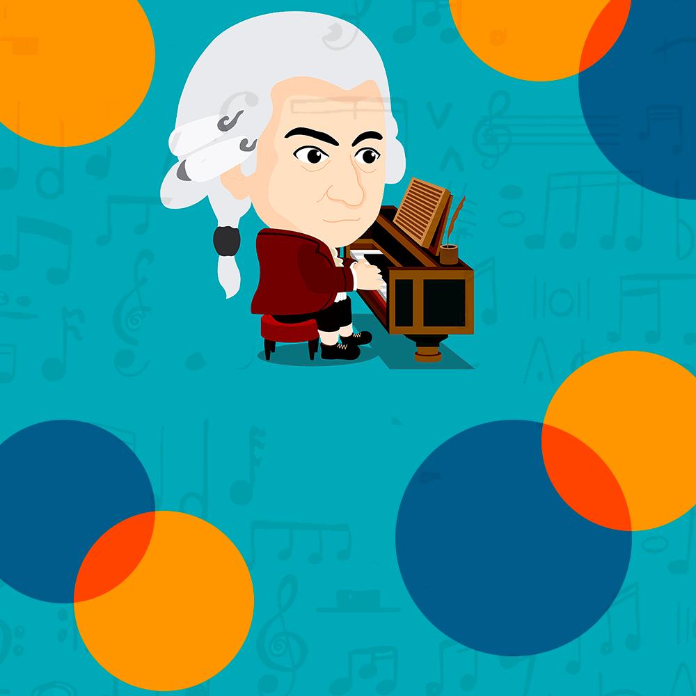 Cover de la serie Mozart raconté aux enfants, par Gérard Philipe disponible sur Sybel