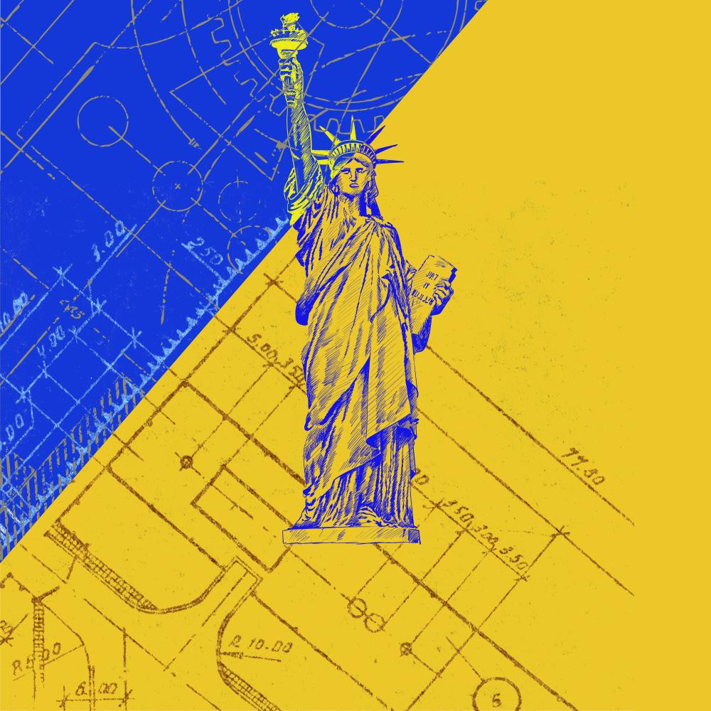 Cover de la serie Lady Liberty, histoire d'un colosse hors-norme disponible sur Sybel
