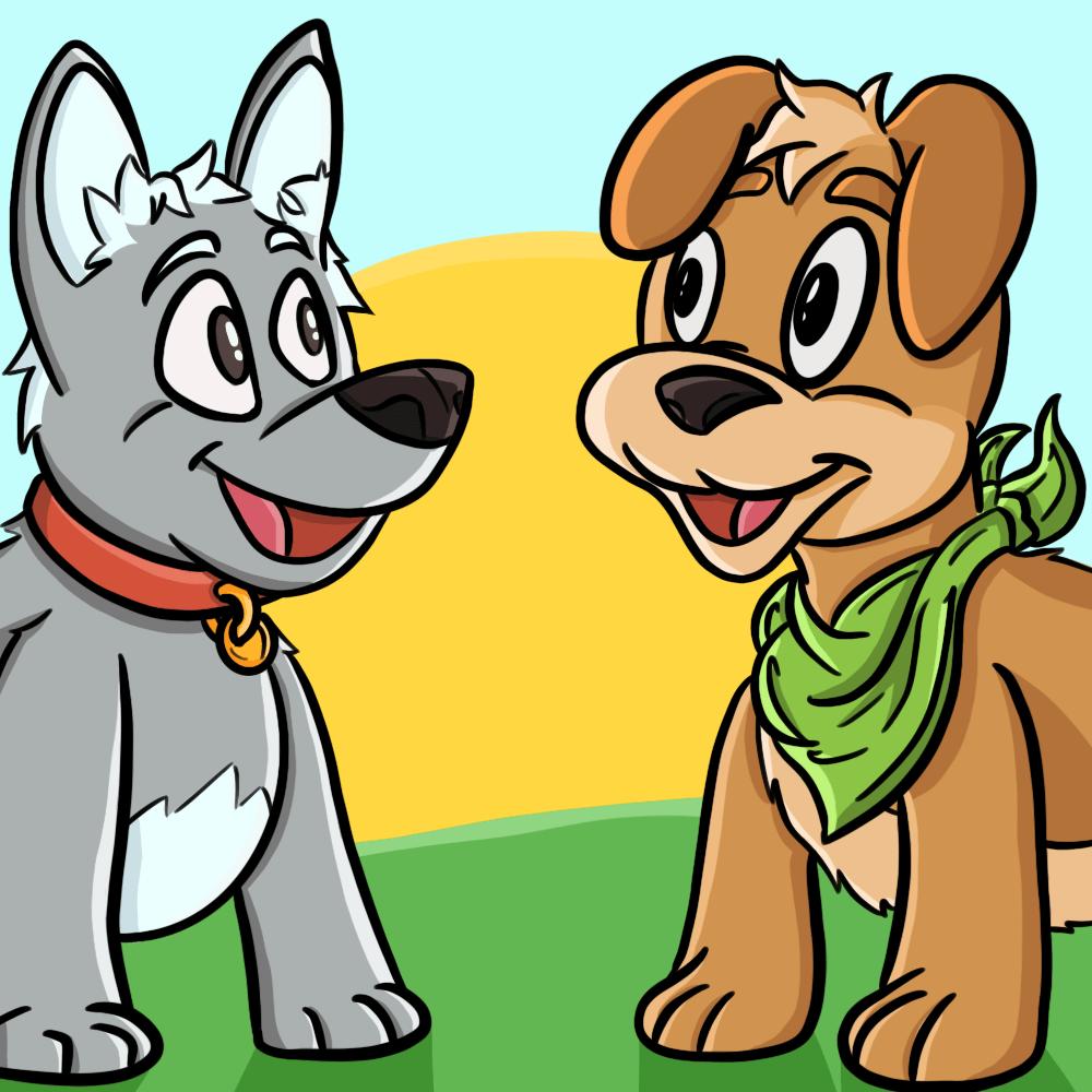 Serie Los dos perros del cazador, disponible en Sybel