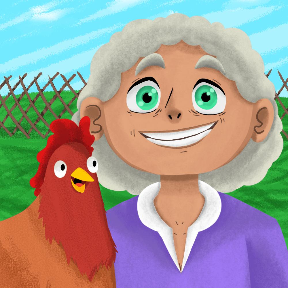 Serie La vieja y la gallina, disponible en Sybel