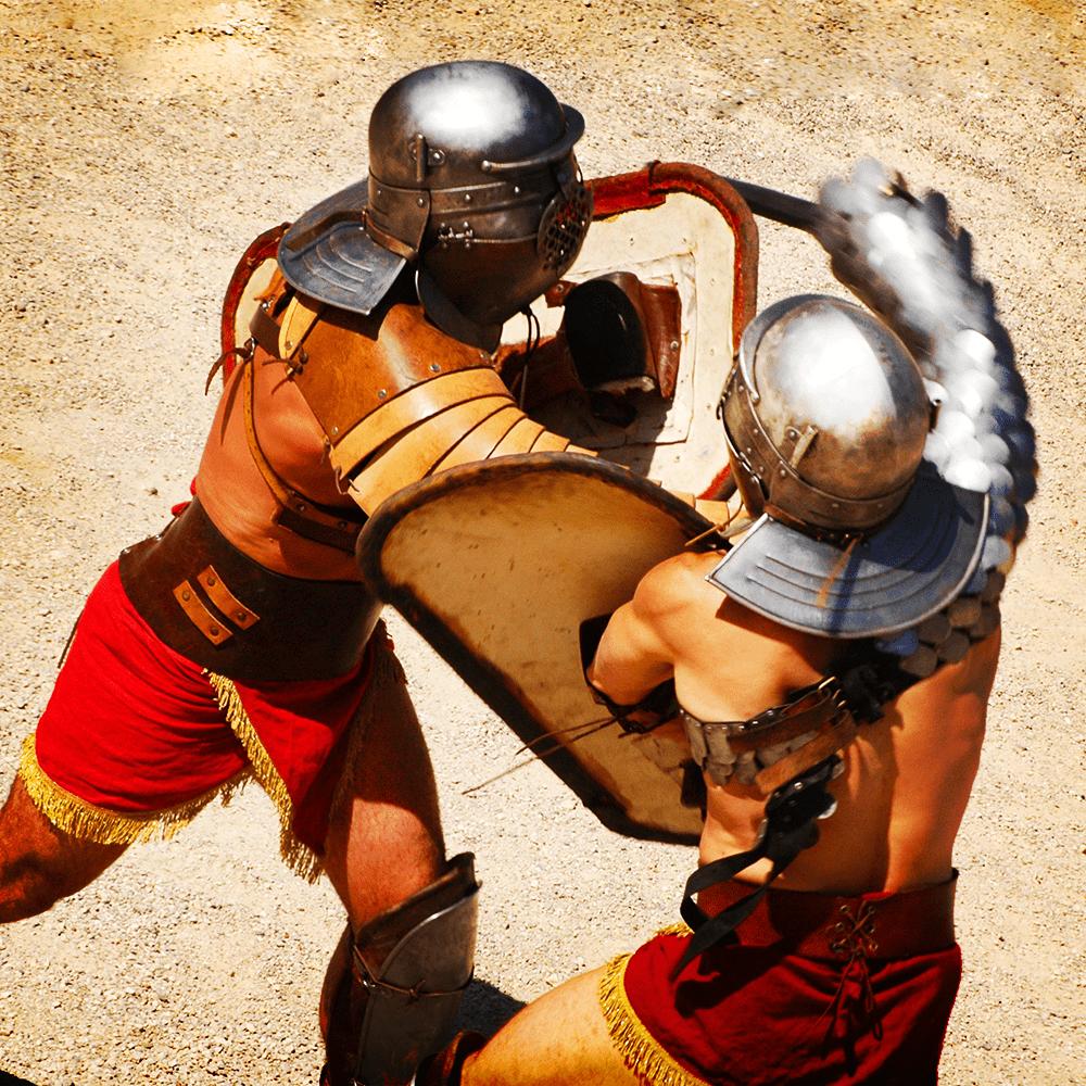 Cover de la serie La vie au temps des gladiateurs disponible sur Sybel