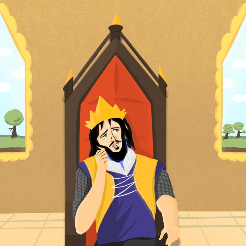Serie El rey confiado, disponible en Sybel