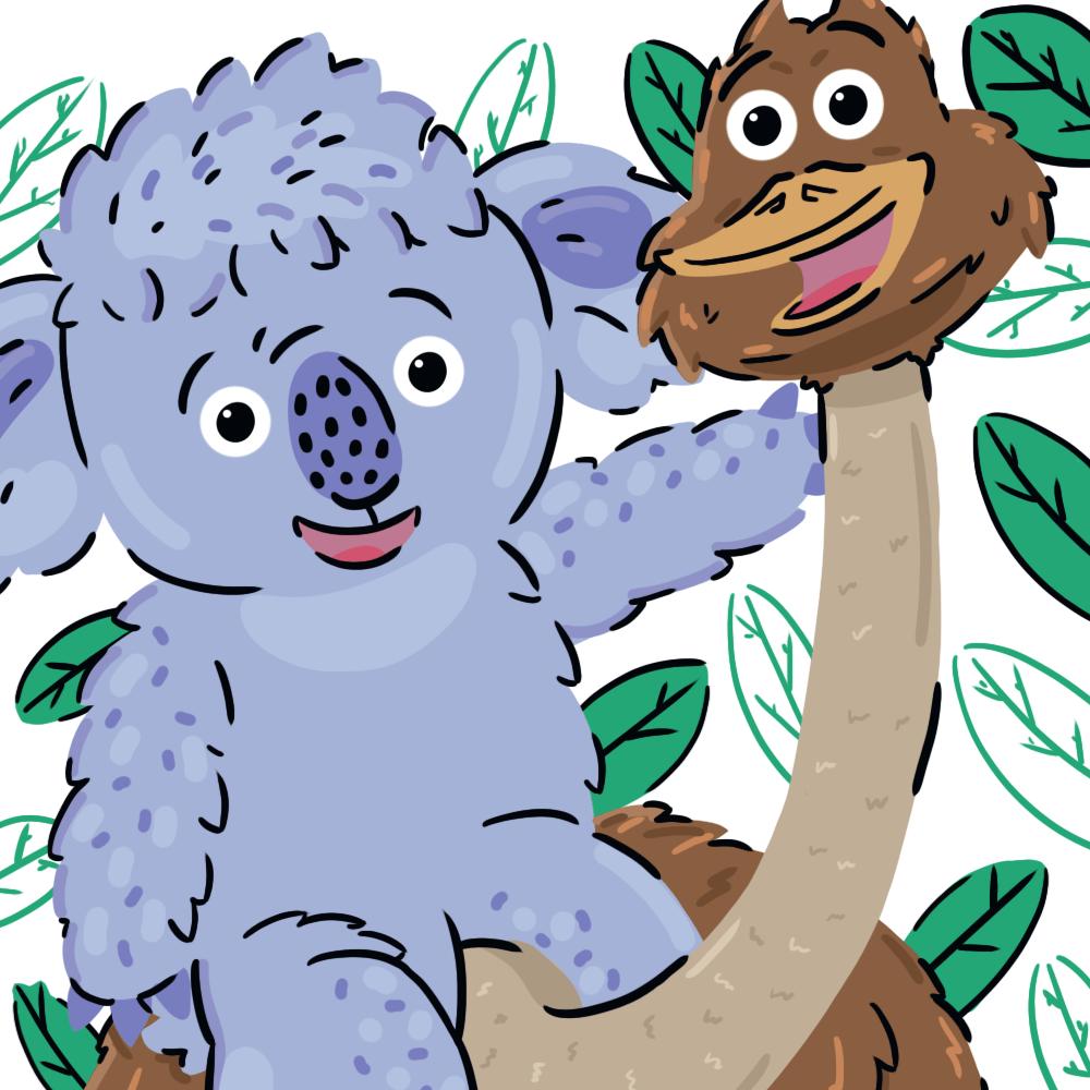 Serie El koala y el emú, disponible en Sybel
