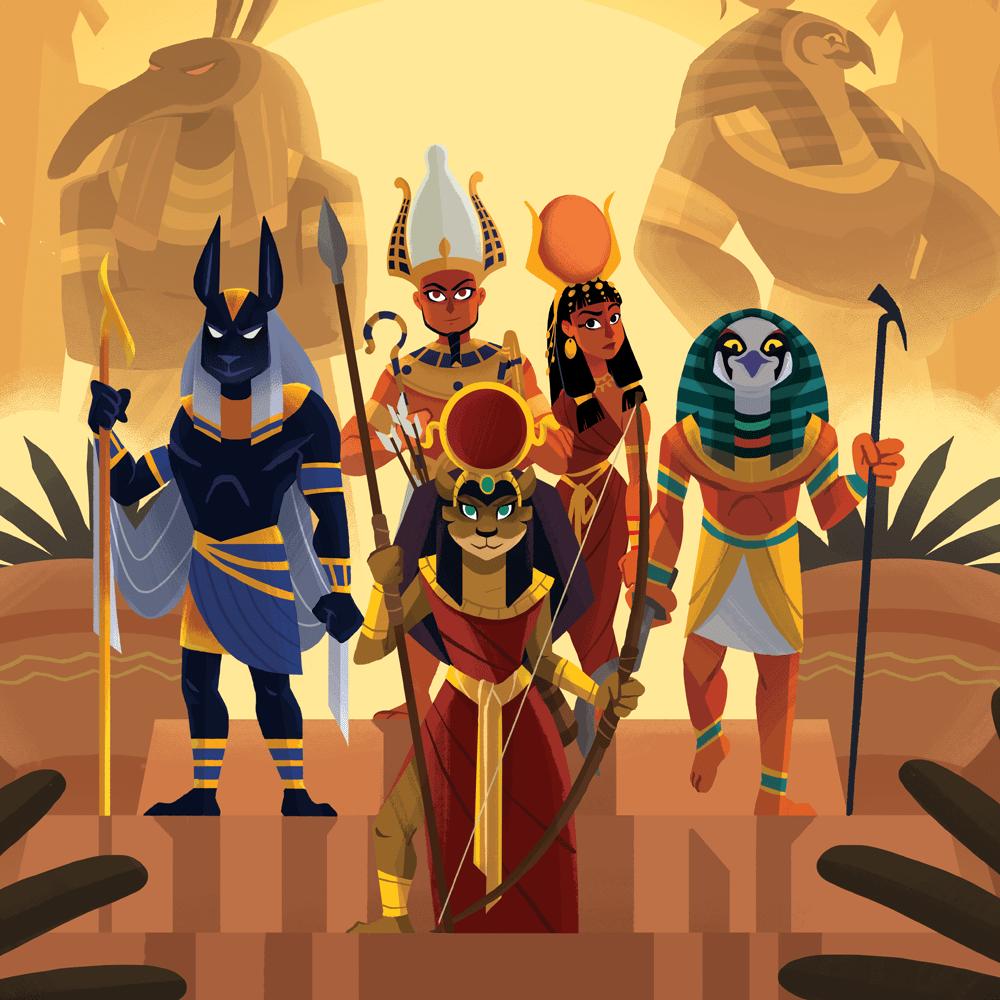 """Cover de la serie Mythes et légendes : """"La Mythologie Égyptienne"""" disponible sur Sybel"""