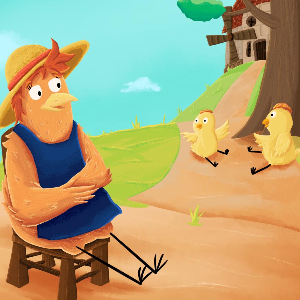 Cover de la serie La petite poule rousse disponible sur Sybel