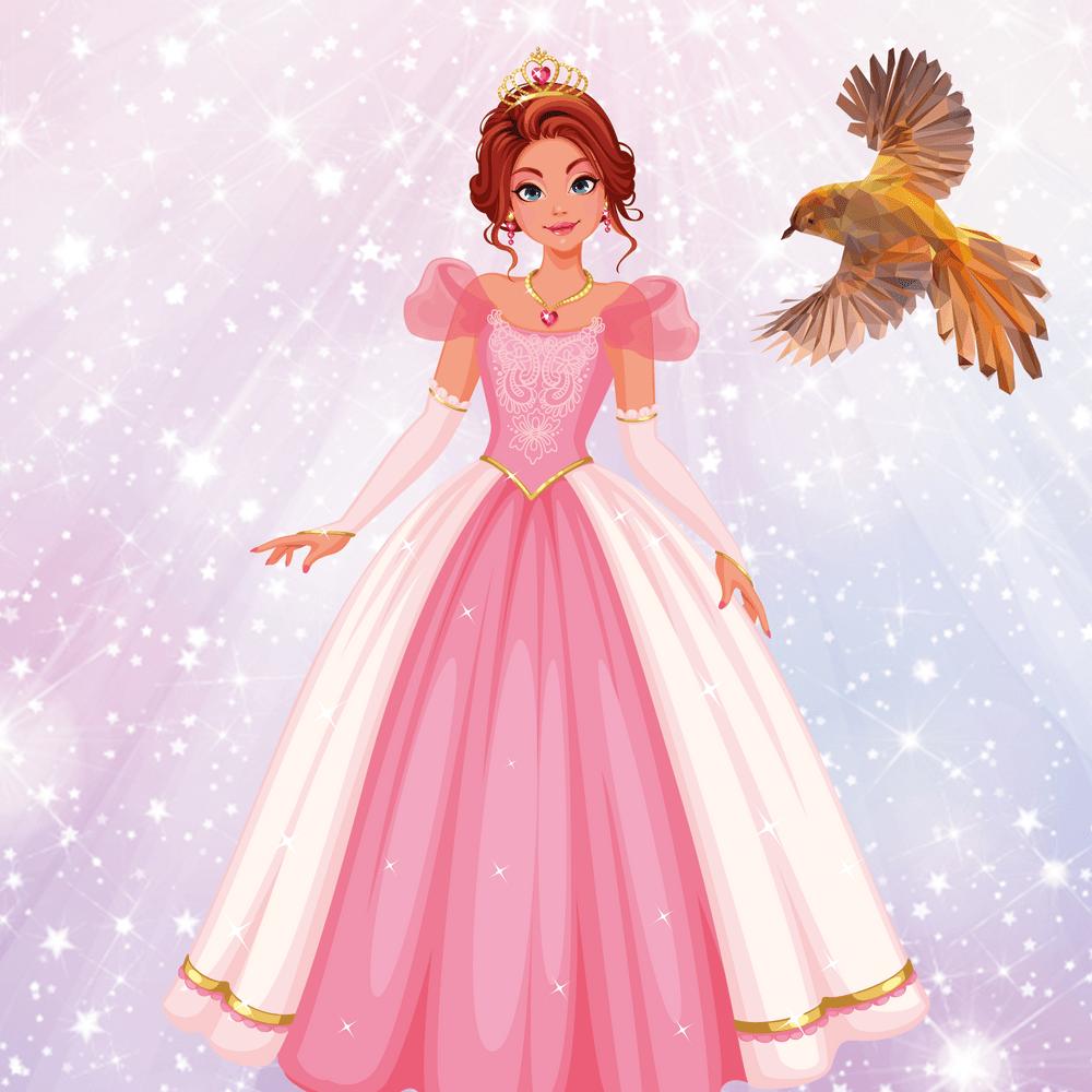 Serie La princesa y el pájaro dorado, disponible en Sybel