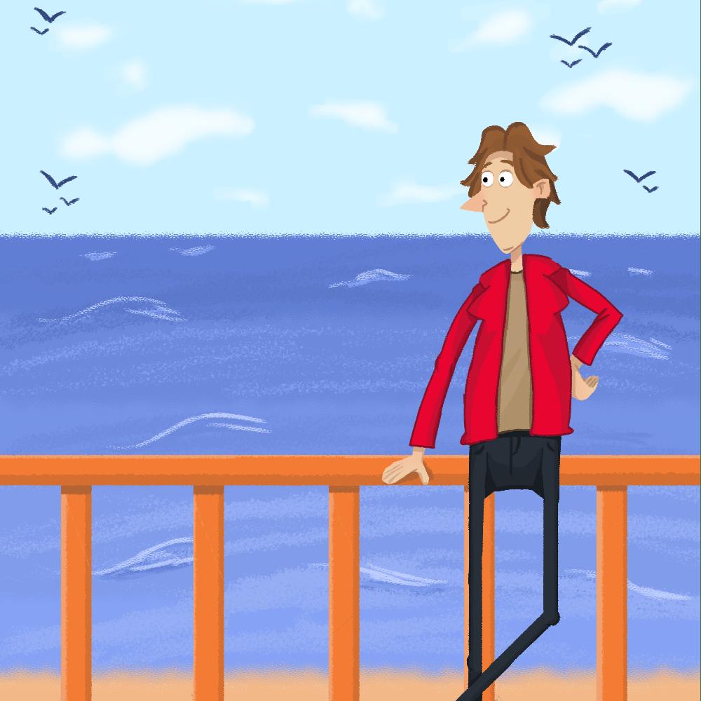Serie El hombre que quería ver el mar, disponible en Sybel