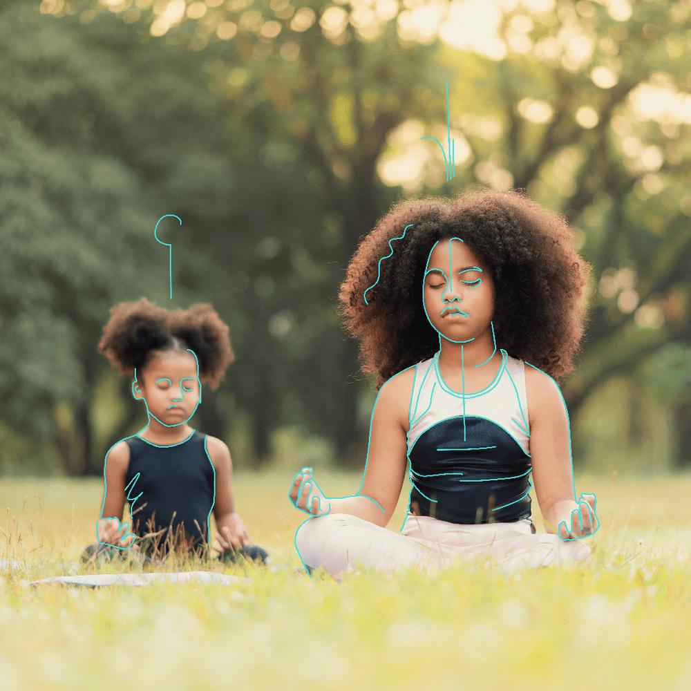 Cover de la serie Méditations pour enfants disponible sur Sybel
