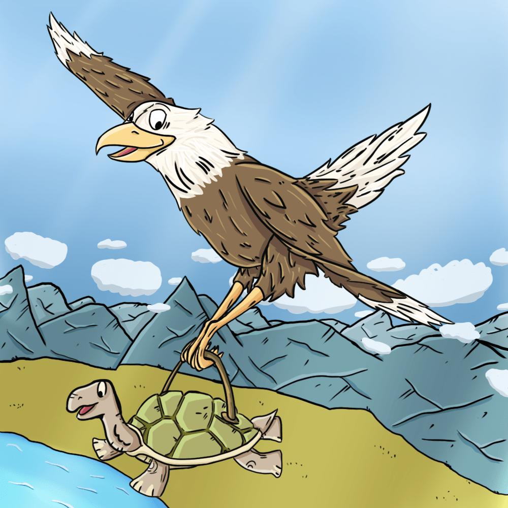 Serie El águila y la tortuga, disponible en Sybel