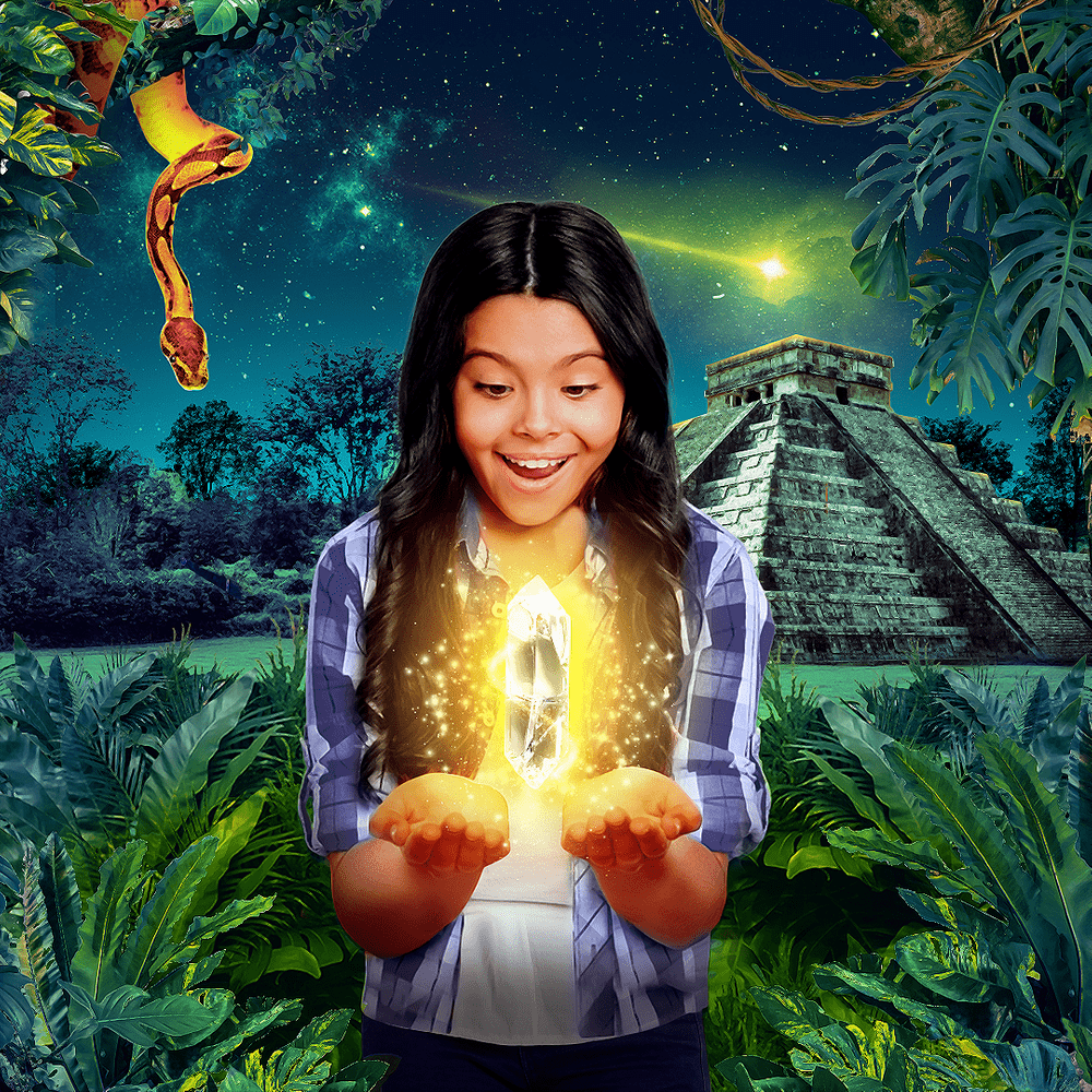Cover de la serie Le cristal Maya disponible sur Sybel