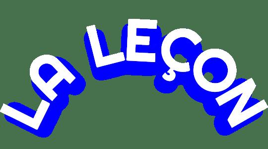La Leçon, le podcast sur l'art d'échouer title