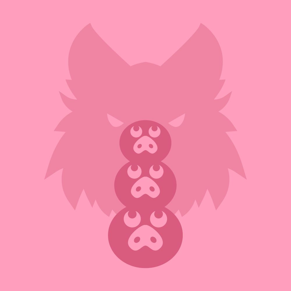 Cover de la serie Les trois petits cochons disponible sur Sybel