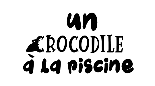 Un crocodile à la piscine title